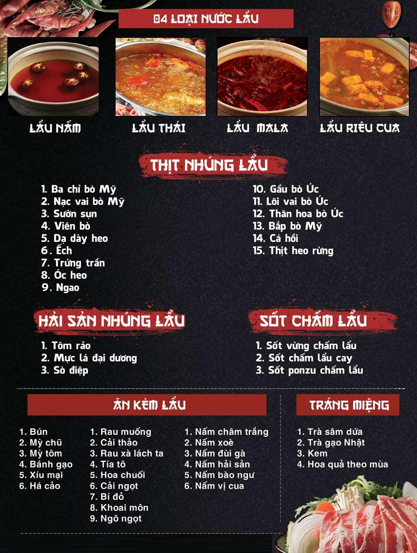 Menu Phượng Hoàng Lửa – Nguyễn Văn Lộc 3