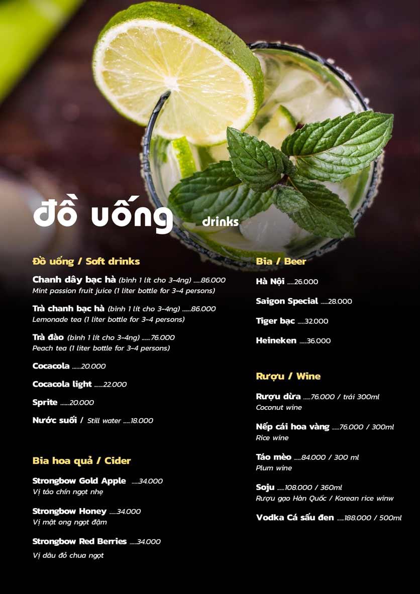 Menu PP's BBQ & Hotpot - Phan Chu Trinh 1