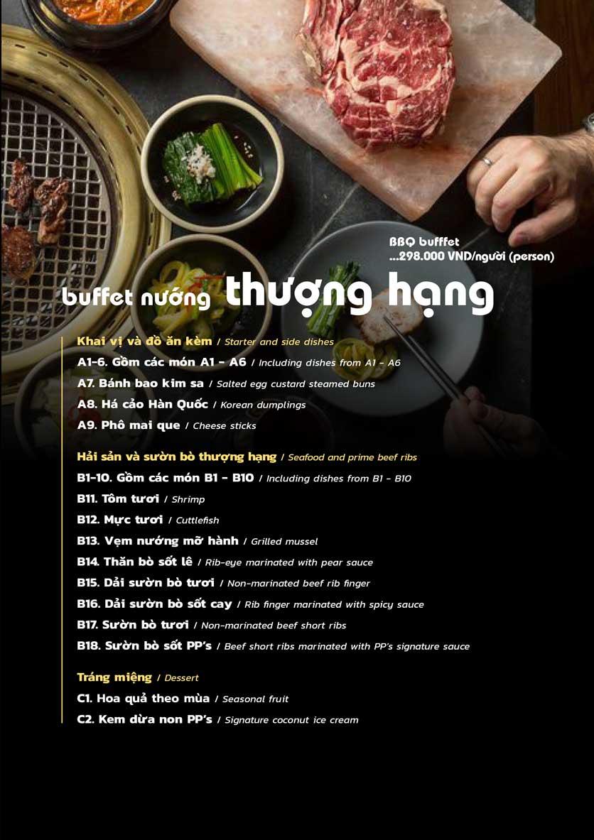 Menu PP's BBQ & Hotpot - Phan Chu Trinh 4