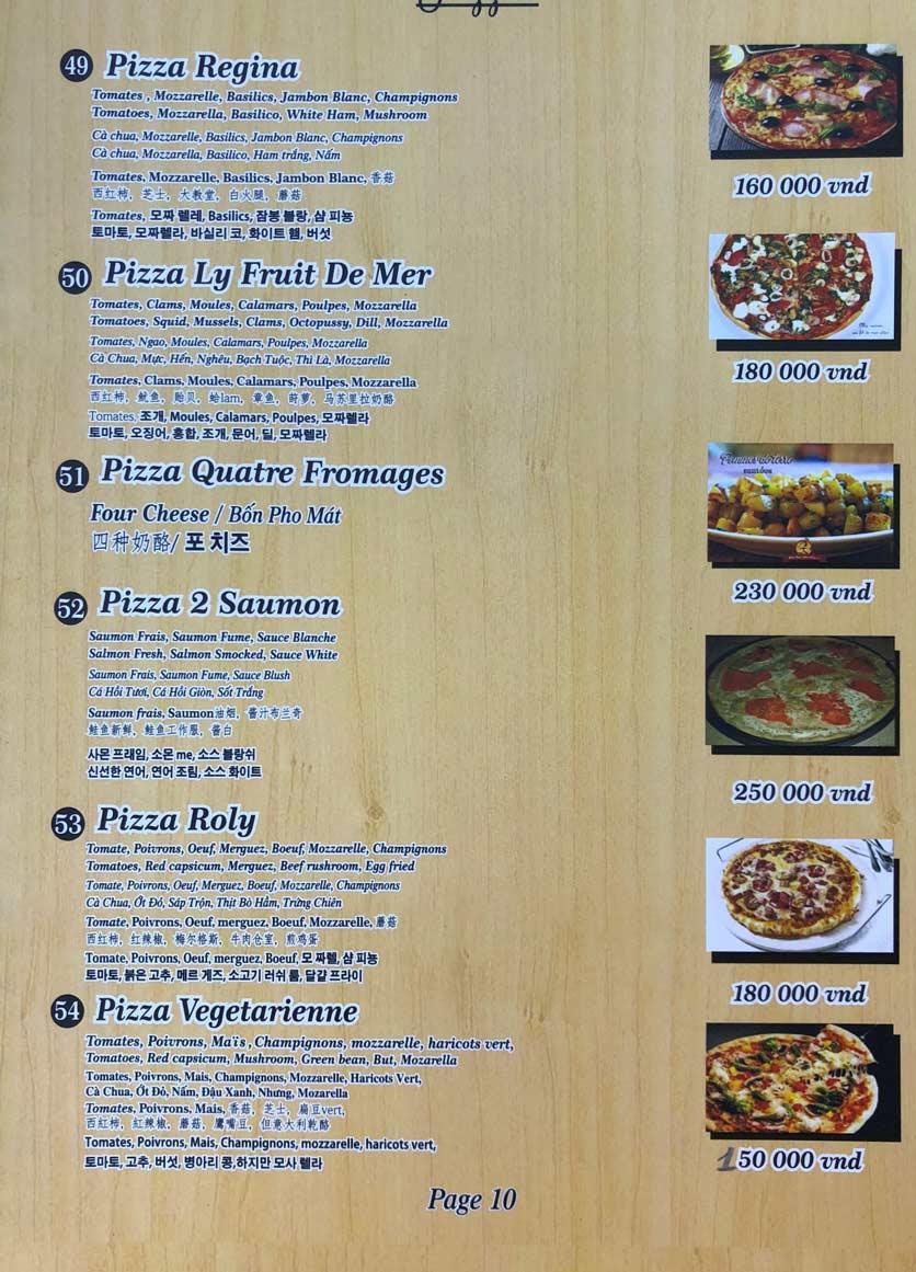 Menu Roly Restaurant - Lê Lợi 10