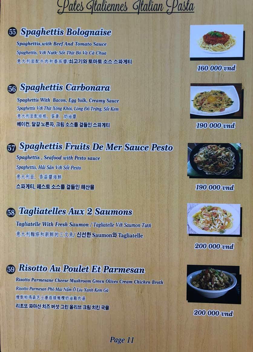 Menu Roly Restaurant - Lê Lợi 11