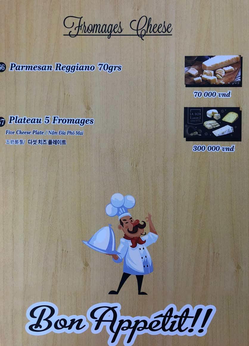 Menu Roly Restaurant - Lê Lợi 13