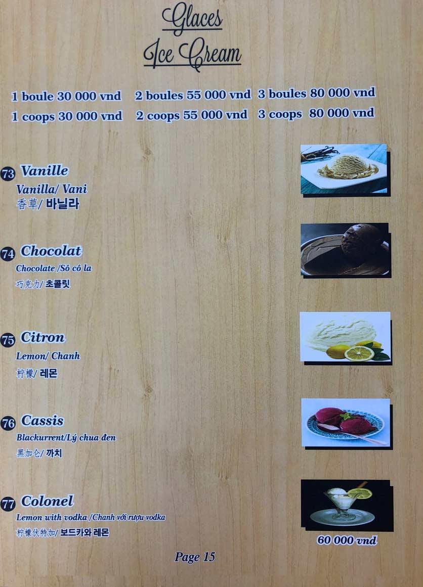 Menu Roly Restaurant - Lê Lợi 15