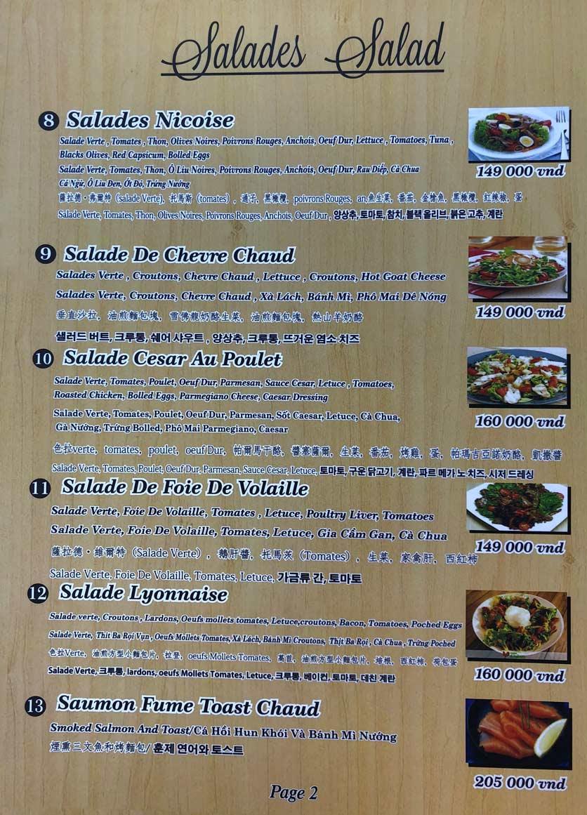 Menu Roly Restaurant - Lê Lợi 2