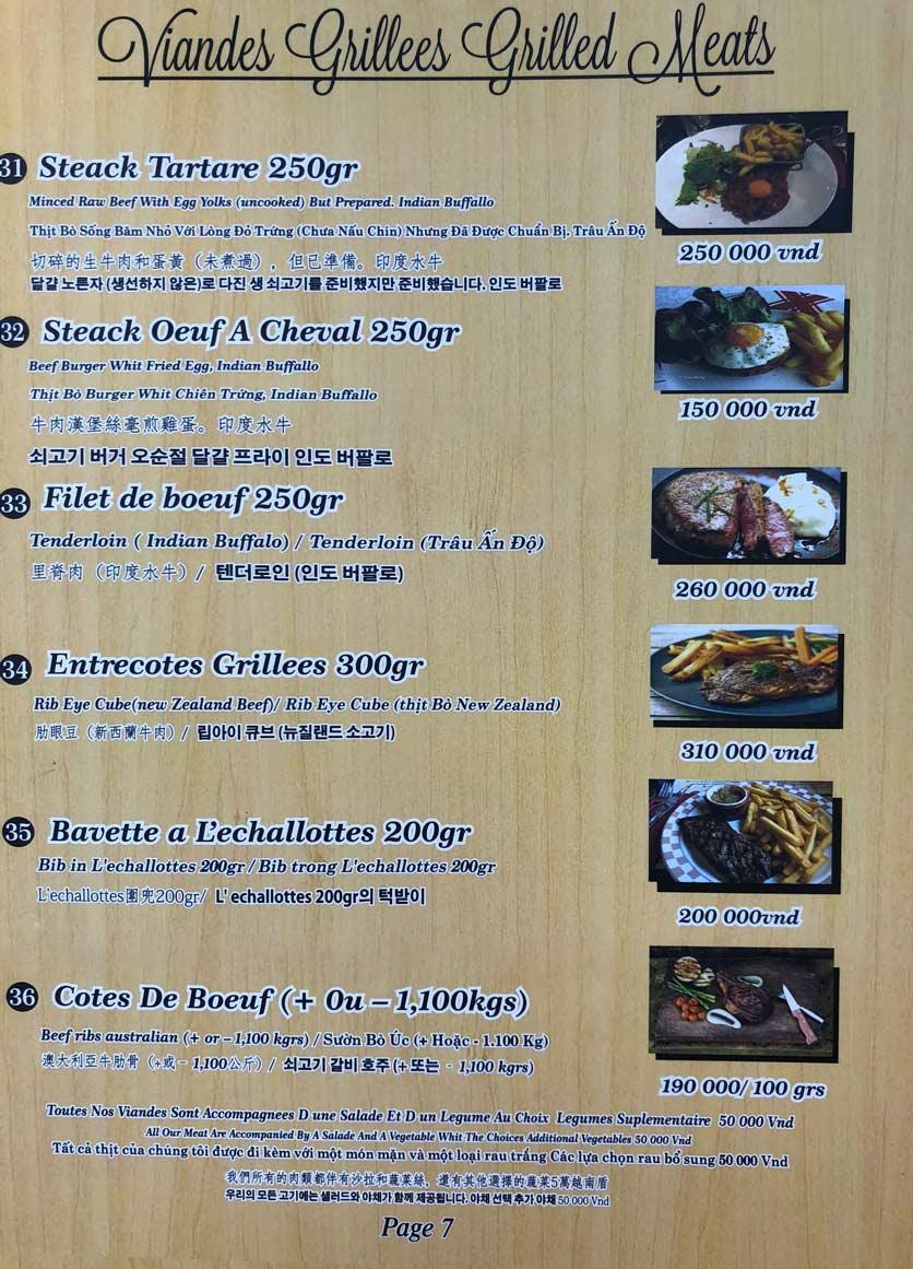 Menu Roly Restaurant - Lê Lợi 7