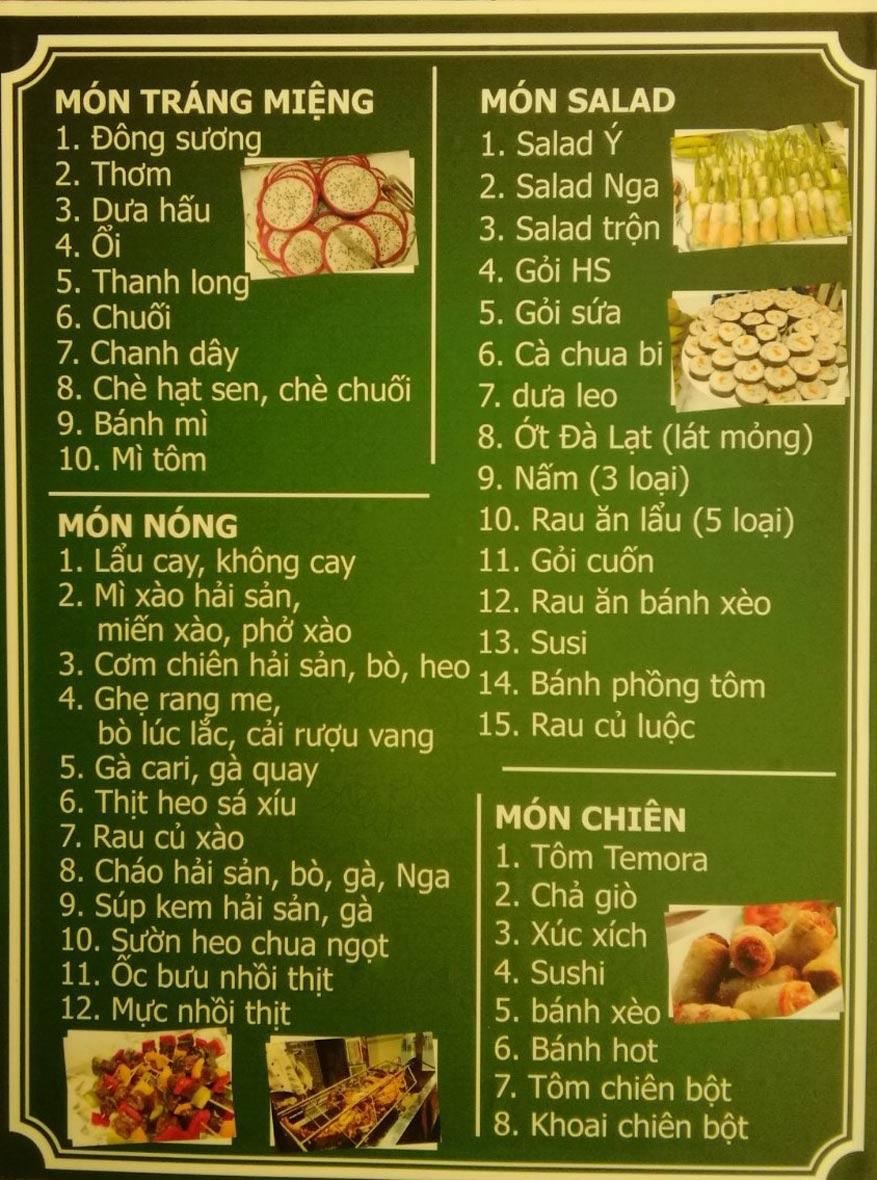 Menu Vườn Nướng ROLY Buffet - Trần Phú 2