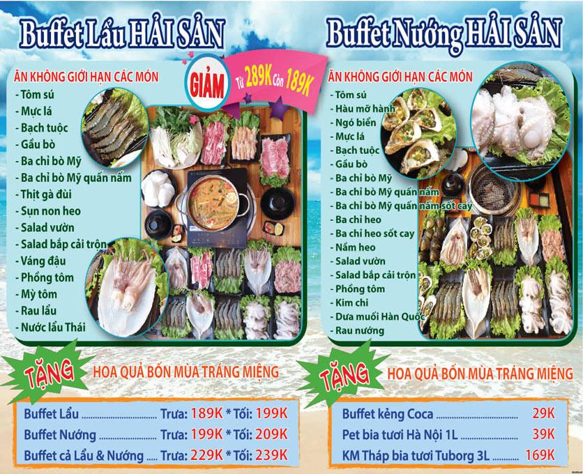 Menu Sapasa - Buffet Lẩu & Nướng - Nguyễn Huy Tưởng 2