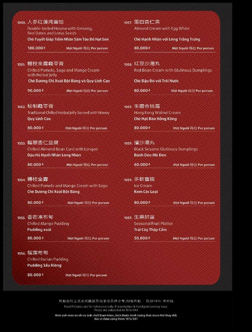Menu Shang Garden - Tôn Thất Tùng 40