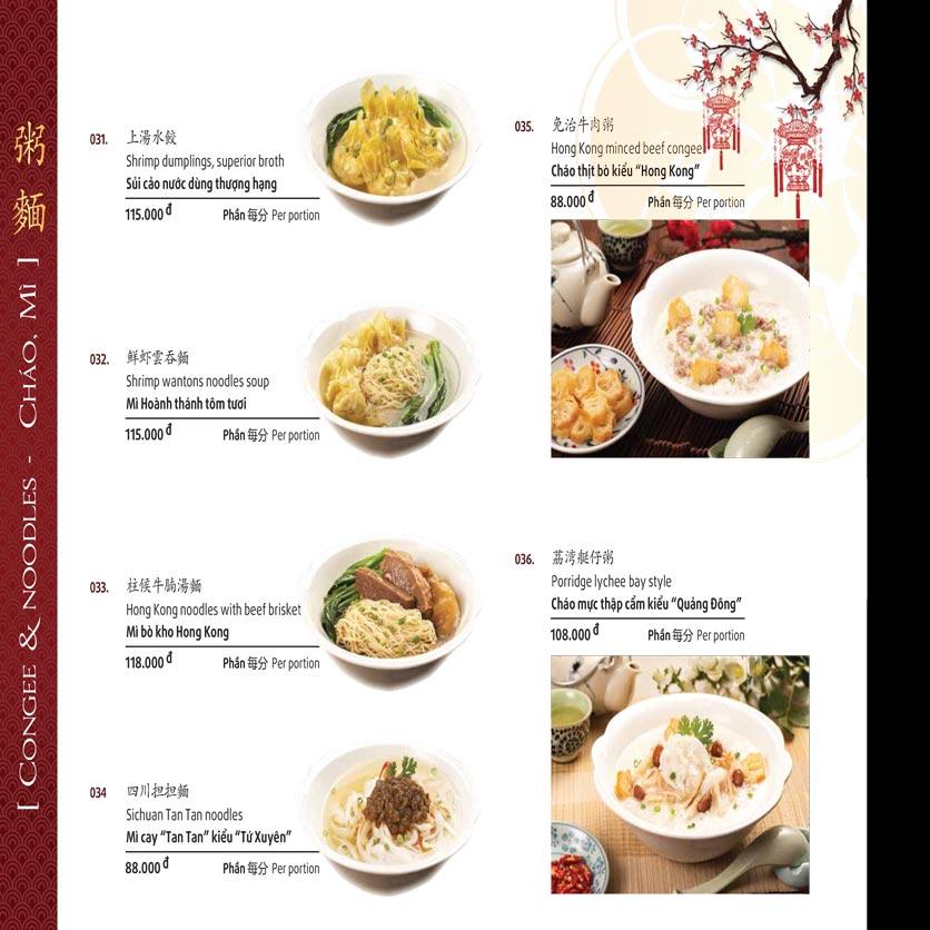 Menu Shang Garden - Tôn Thất Tùng 50