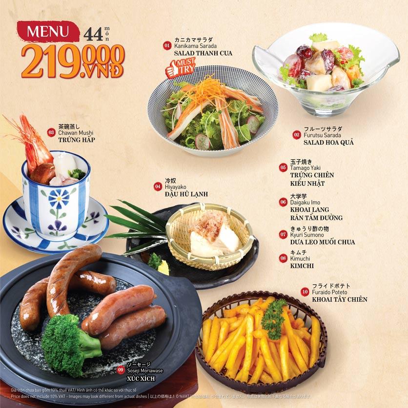 Menu Sushi Kei – Nguyễn Chí Thanh  2