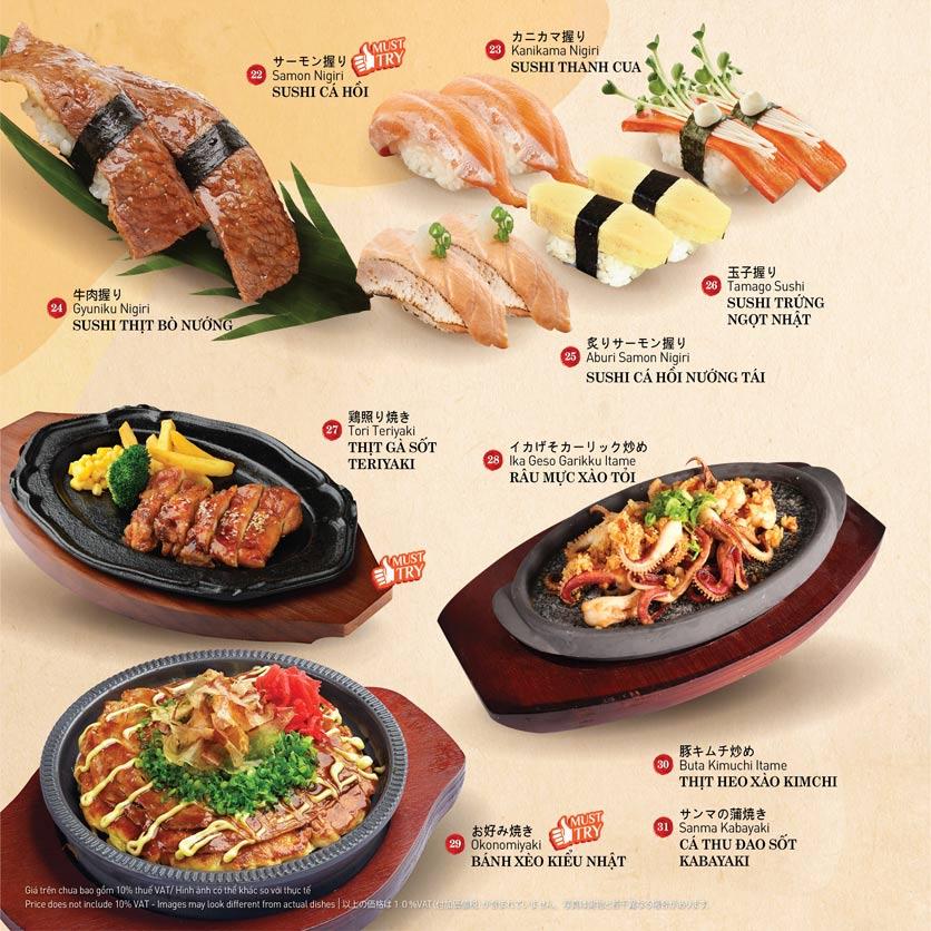 Menu Sushi Kei – Nguyễn Chí Thanh  4
