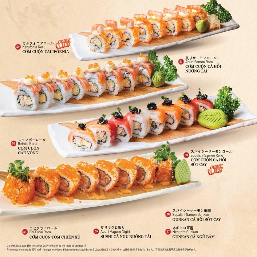 Menu Sushi Kei – Nguyễn Chí Thanh  8