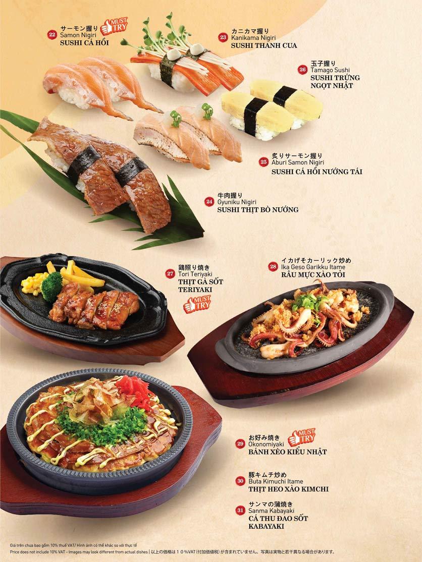 Menu Sushi Kei – Lotte Center 3