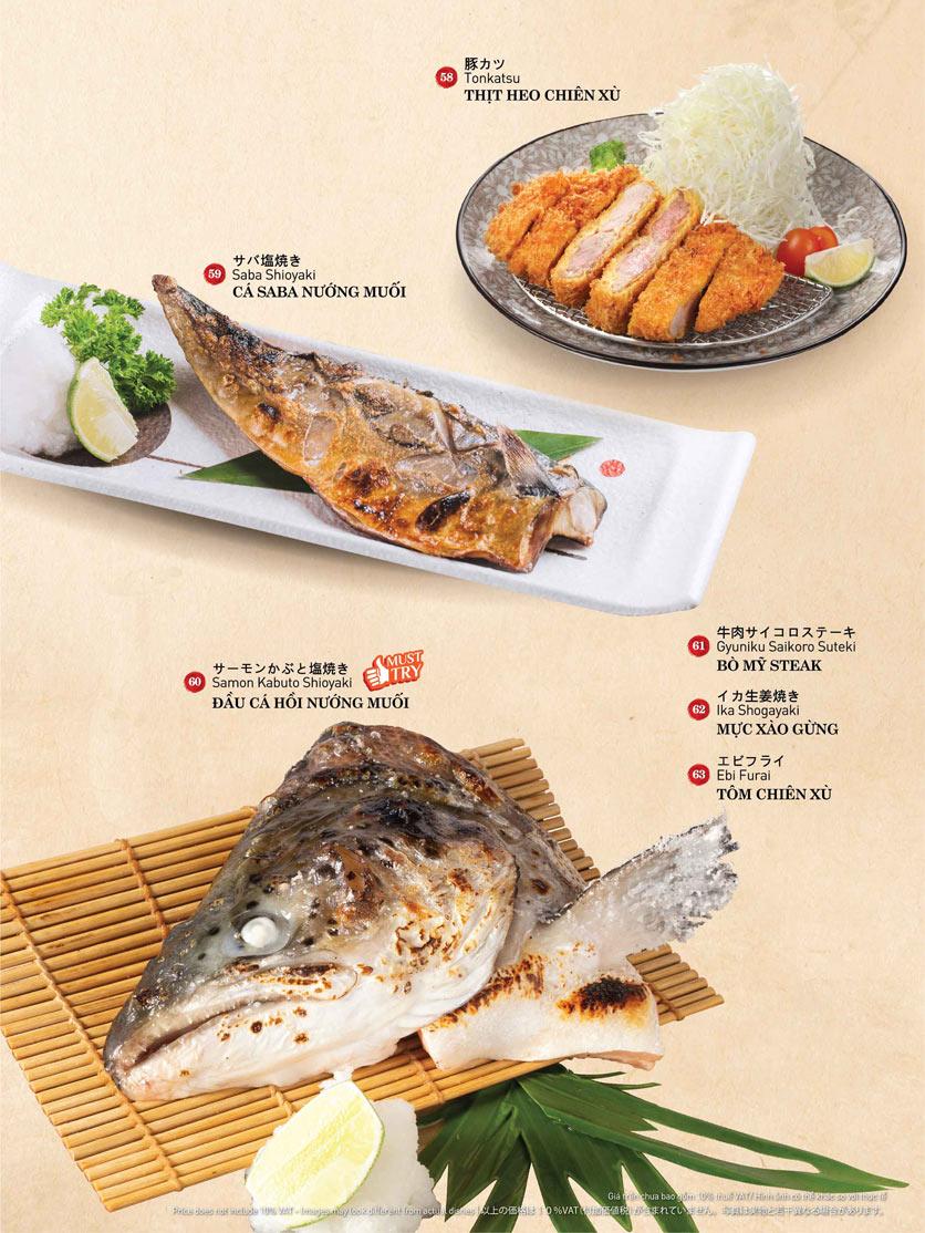 Menu Sushi Kei – Lotte Center 8