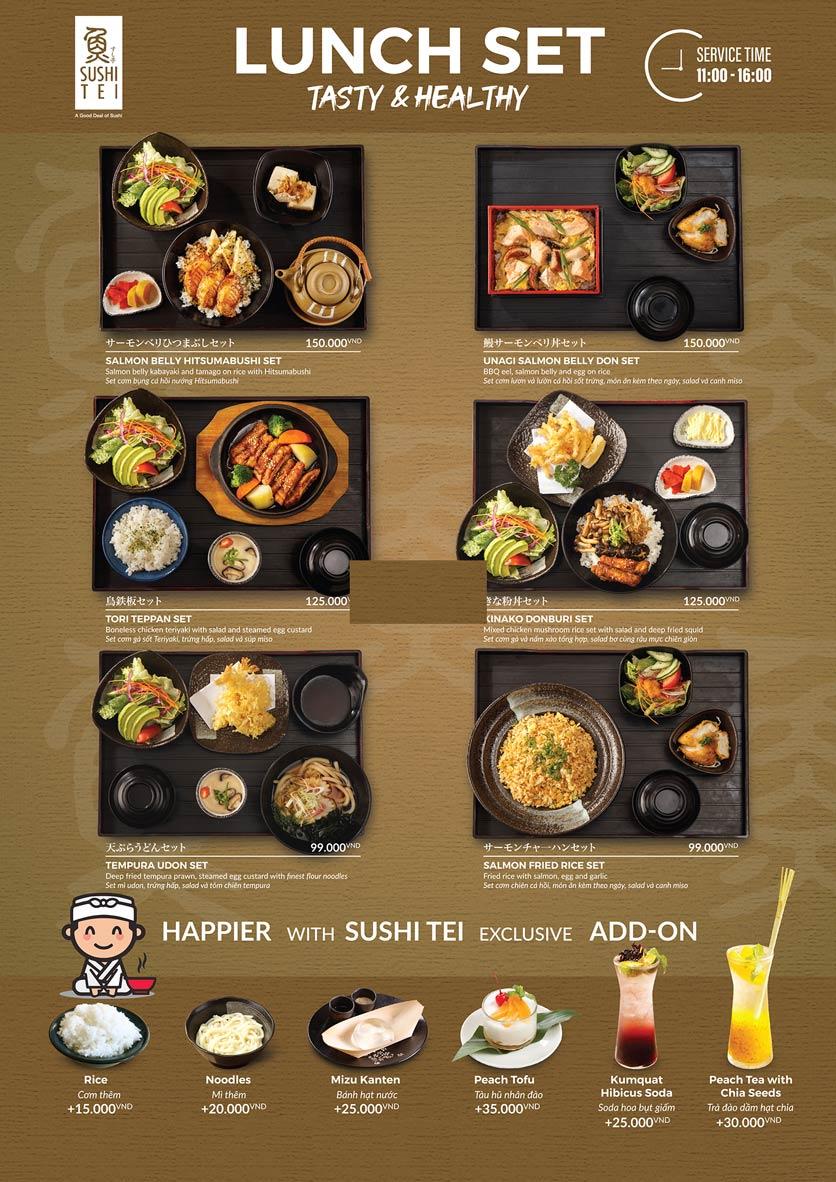 Menu Sushi Tei – Cao Thắng 2