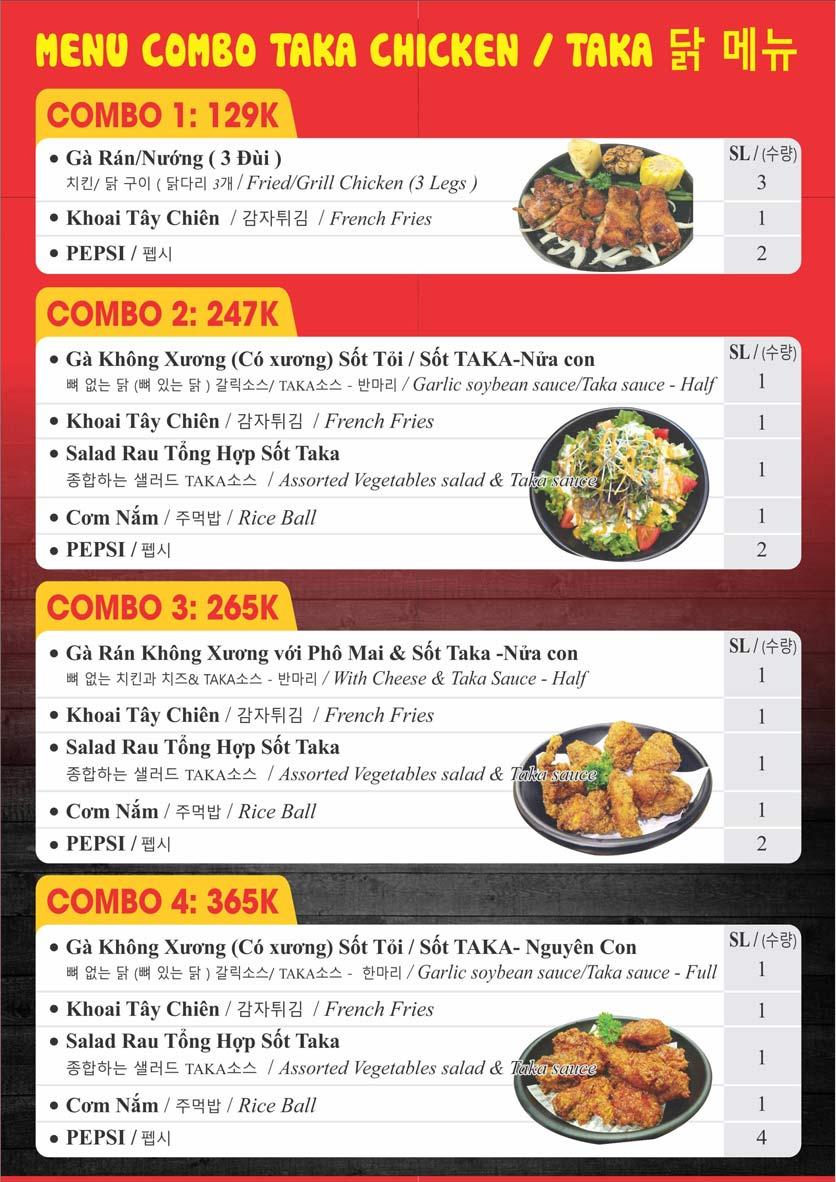 Menu Taka BBQ – Nguyễn Gia Trí 1