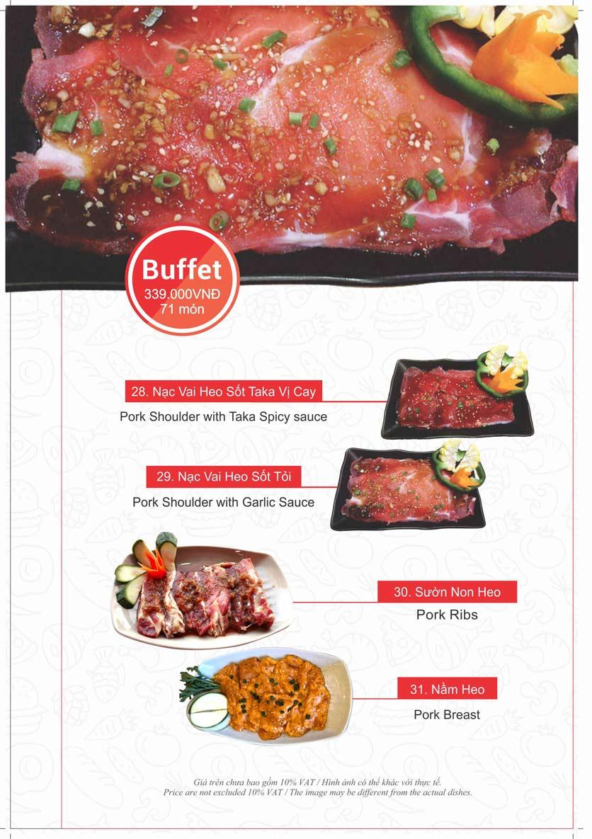 Menu Taka BBQ - Nguyễn Tri Phương 17