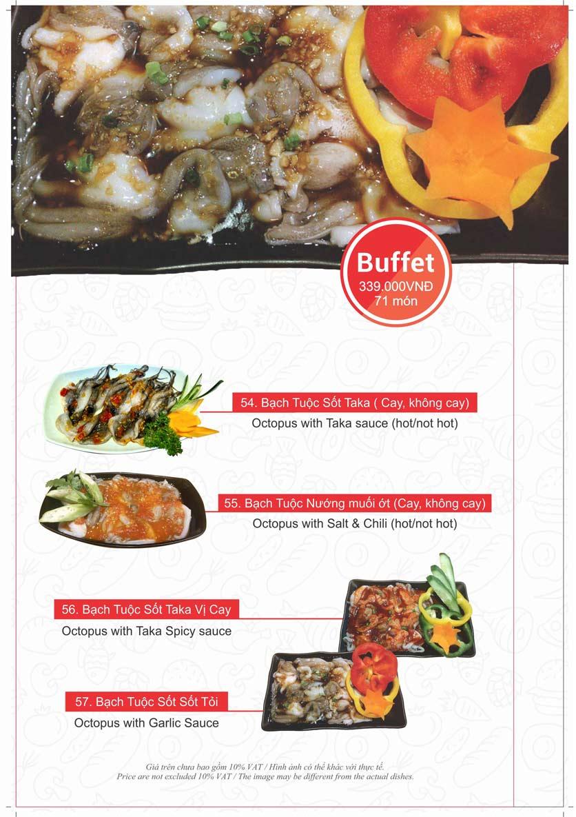 Menu Taka BBQ - Nguyễn Tri Phương 22