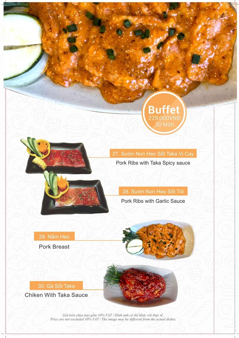 Menu Taka BBQ - Nguyễn Tri Phương 8