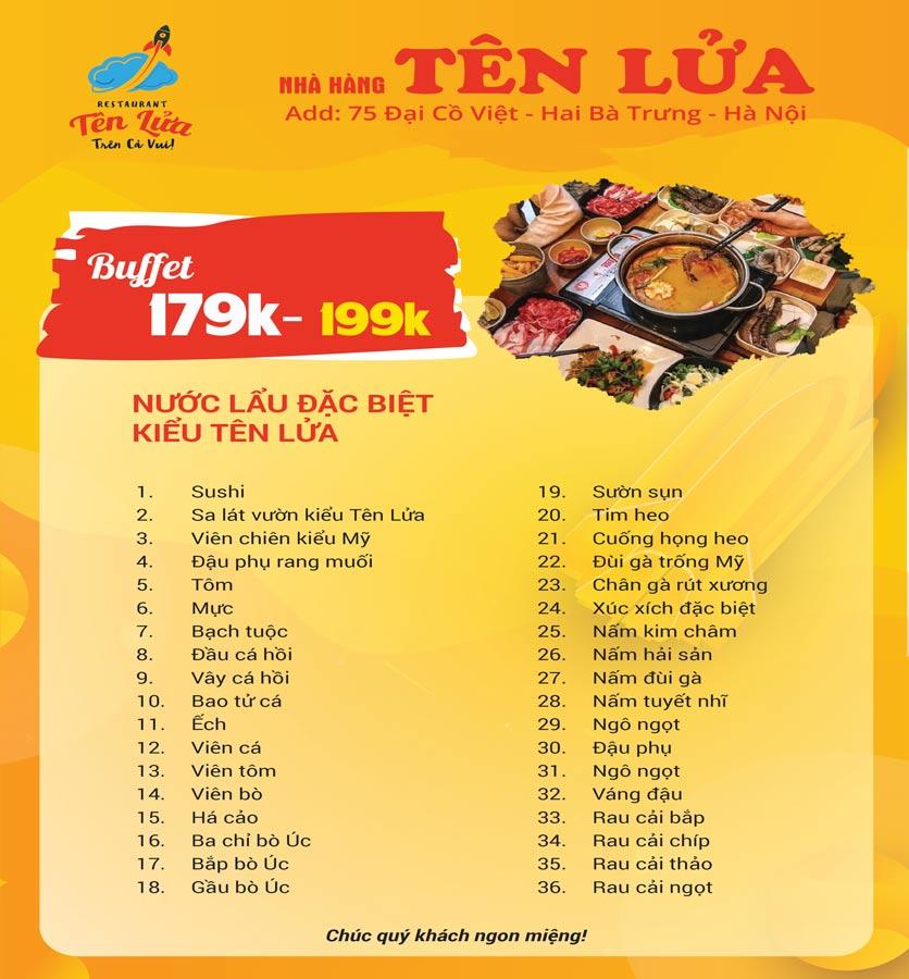 Menu Tên Lửa Restaurant - Đại Cồ Việt 4