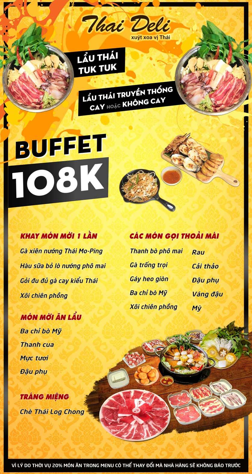 Menu Thai Deli - Buffet Lẩu Thái Hải sản - Hàm Nghi 1