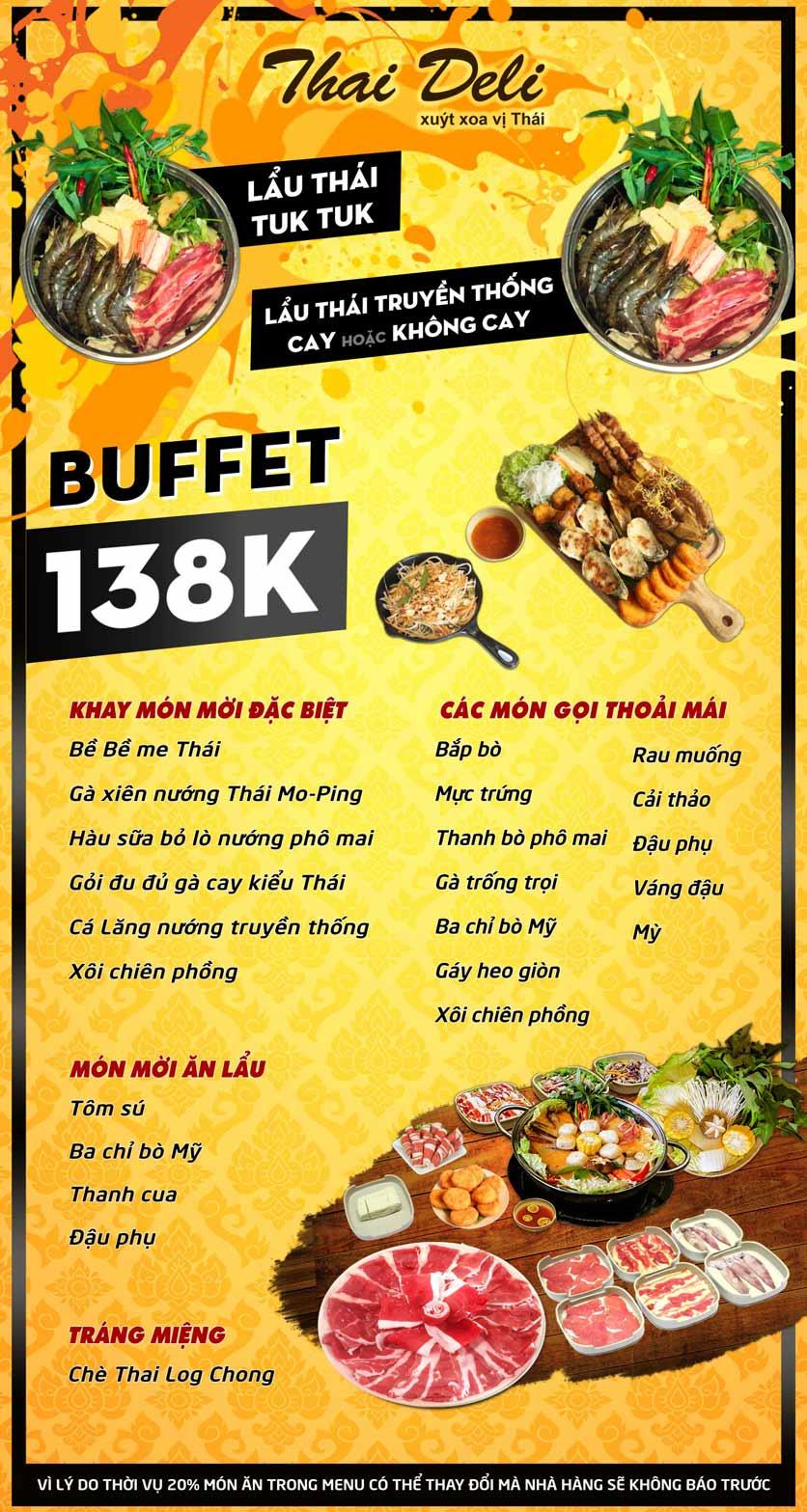 Menu Thai Deli - Buffet Lẩu Thái Hải sản - Hàm Nghi 2