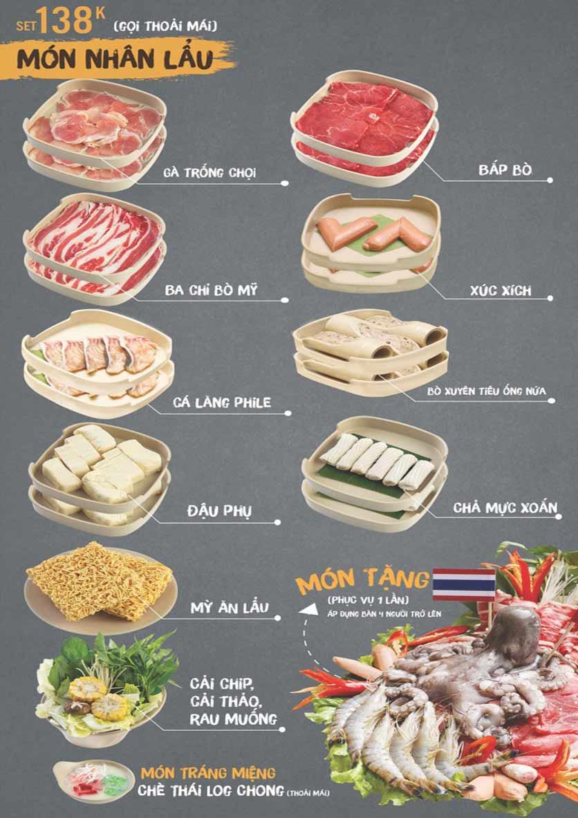 Menu Thai Deli - Buffet Lẩu Thái - Hàm Nghi 4