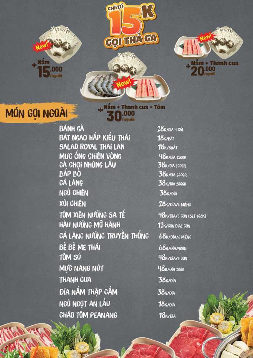 Menu Thai Deli - Buffet Lẩu Thái - Hàm Nghi 5