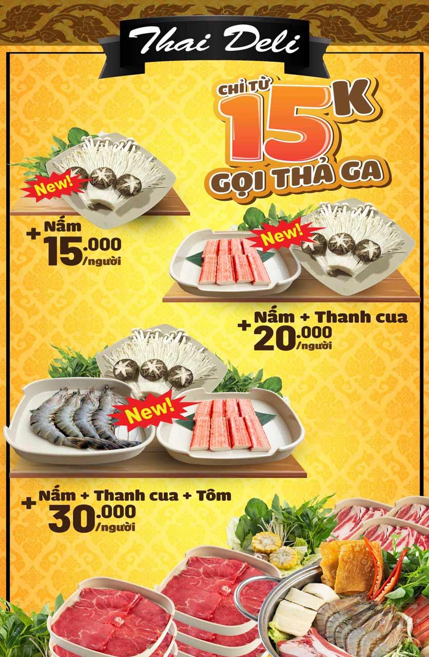 Menu Thai Deli - Buffet Lẩu Thái - Hàm Nghi 3