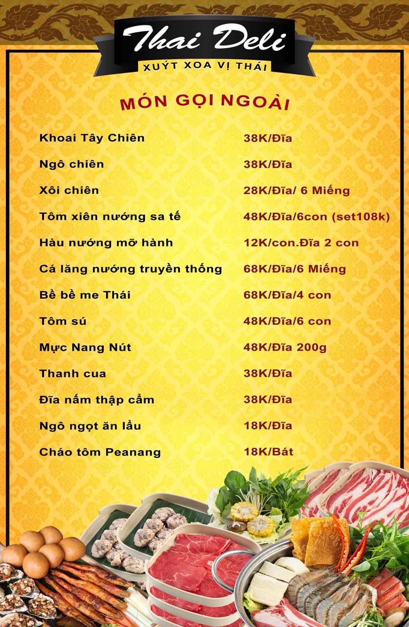Menu Thai Deli - Buffet Lẩu Thái - Vũ Ngọc Phan 6