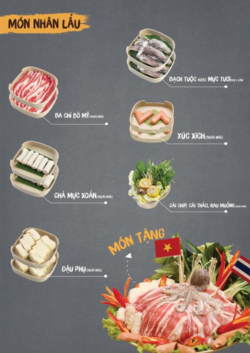 Menu Thai Deli - Buffet Lẩu Thái - Quan Hoa    2
