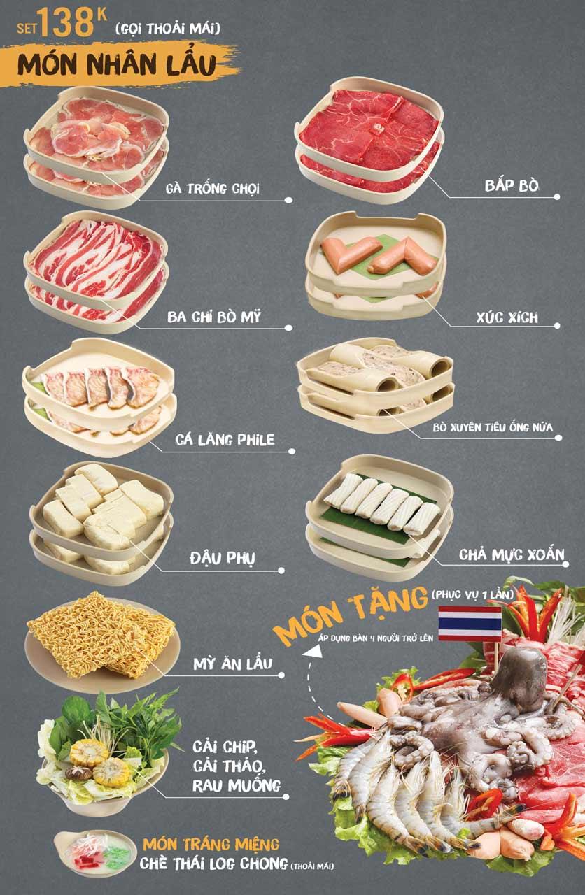 Menu Thai Deli - Buffet Lẩu Thái - Vũ Ngọc Phan 4