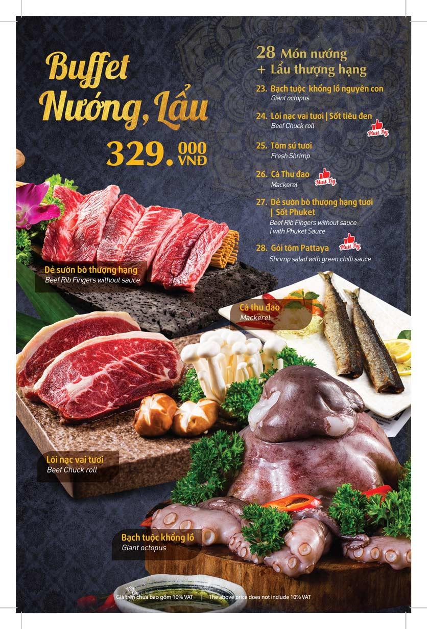 Menu Thai Pattaya  - Láng Hạ 10