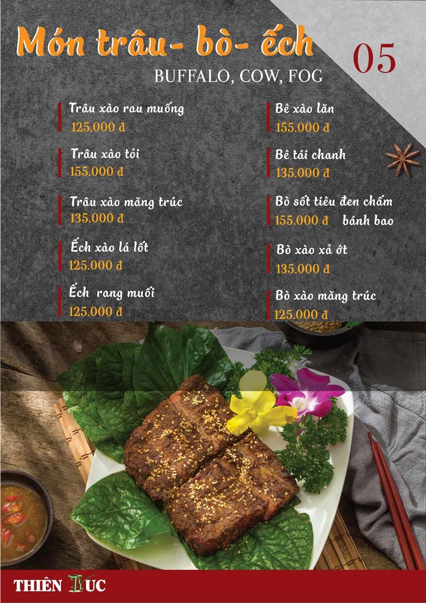 Menu Thiên Trúc - Nguyễn Trãi  12
