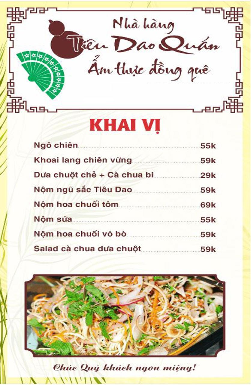Menu Tiêu Dao Quán - Nguyễn Khuyến 1