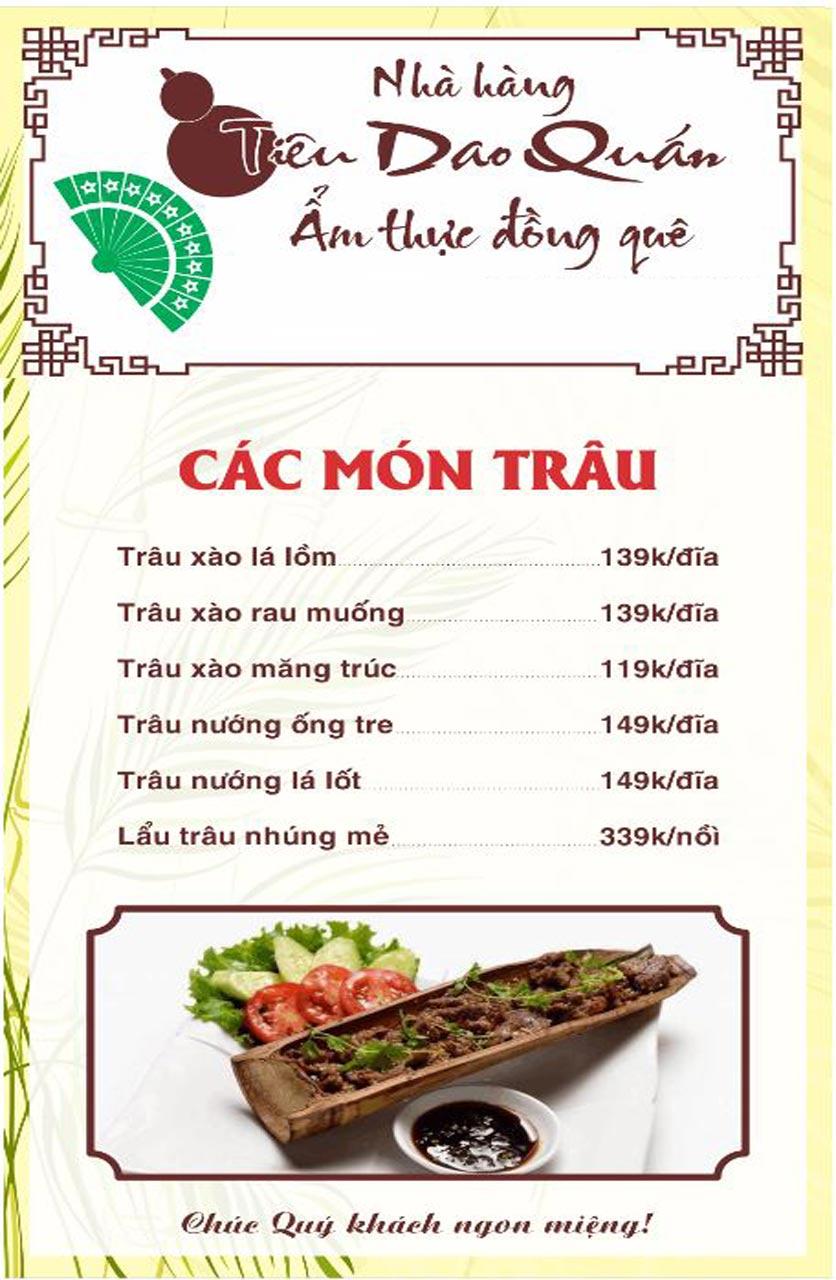 Menu Tiêu Dao Quán - Nguyễn Khuyến 10