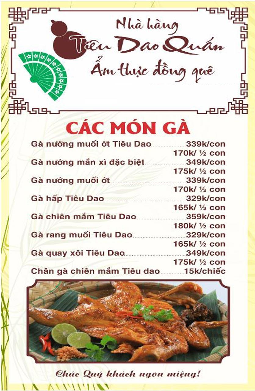 Menu Tiêu Dao Quán - Nguyễn Khuyến 11