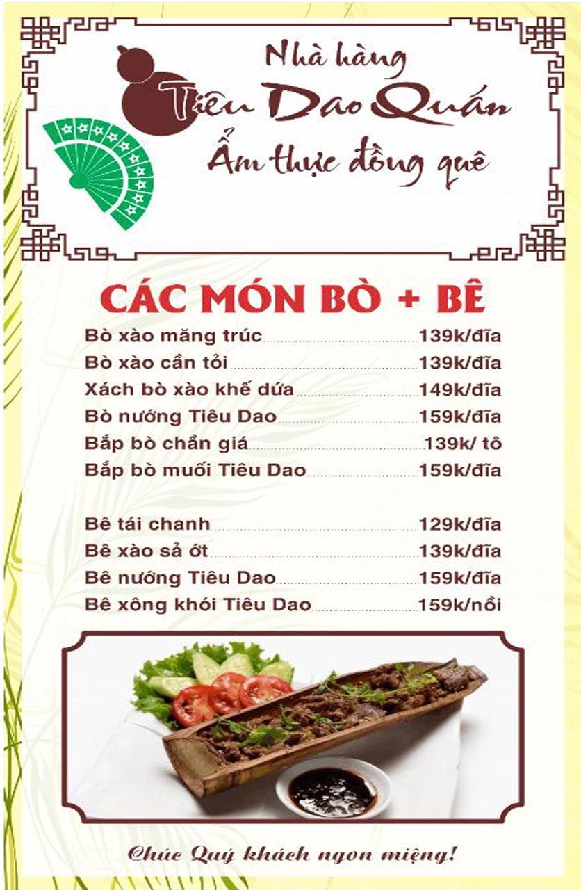 Menu Tiêu Dao Quán - Nguyễn Khuyến 12