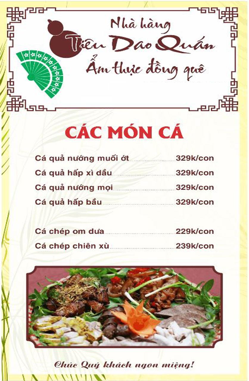 Menu Tiêu Dao Quán - Nguyễn Khuyến 13