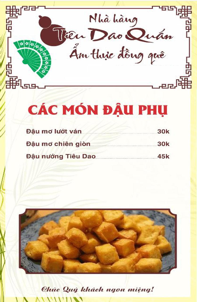 Menu Tiêu Dao Quán - Nguyễn Khuyến 14