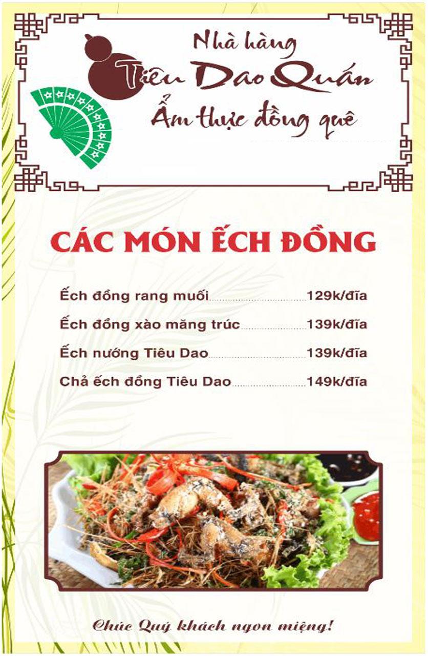 Menu Tiêu Dao Quán - Nguyễn Khuyến 15