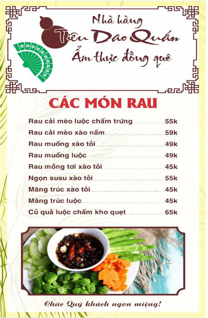Menu Tiêu Dao Quán - Nguyễn Khuyến 16