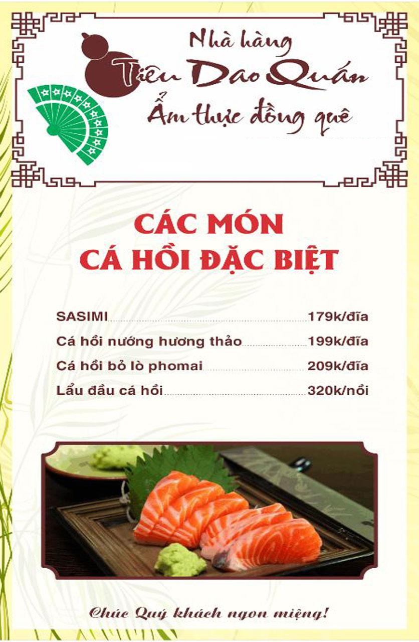 Menu Tiêu Dao Quán - Nguyễn Khuyến 17