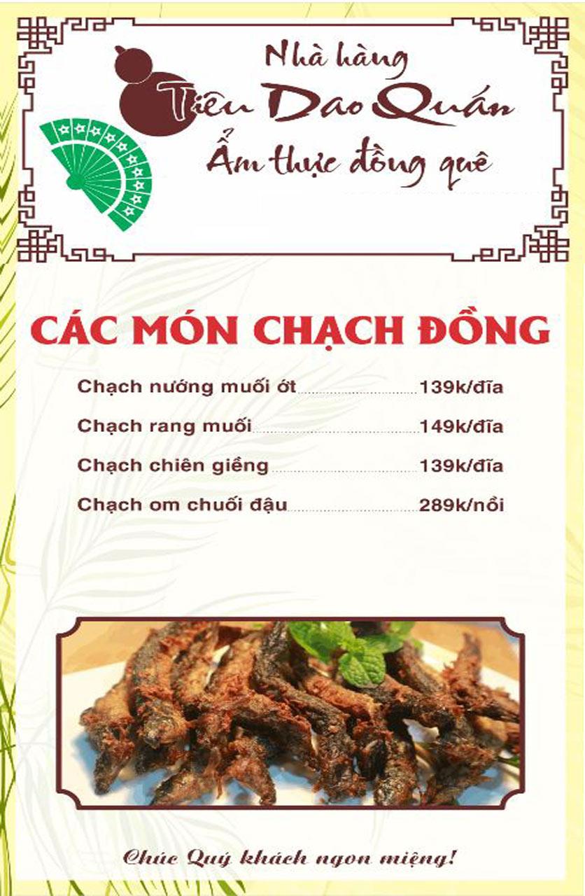 Menu Tiêu Dao Quán - Nguyễn Khuyến 2