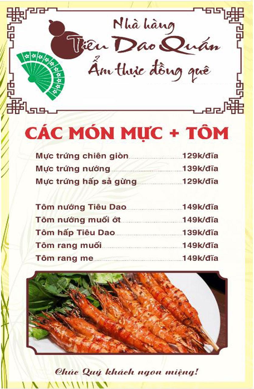 Menu Tiêu Dao Quán - Nguyễn Khuyến 3