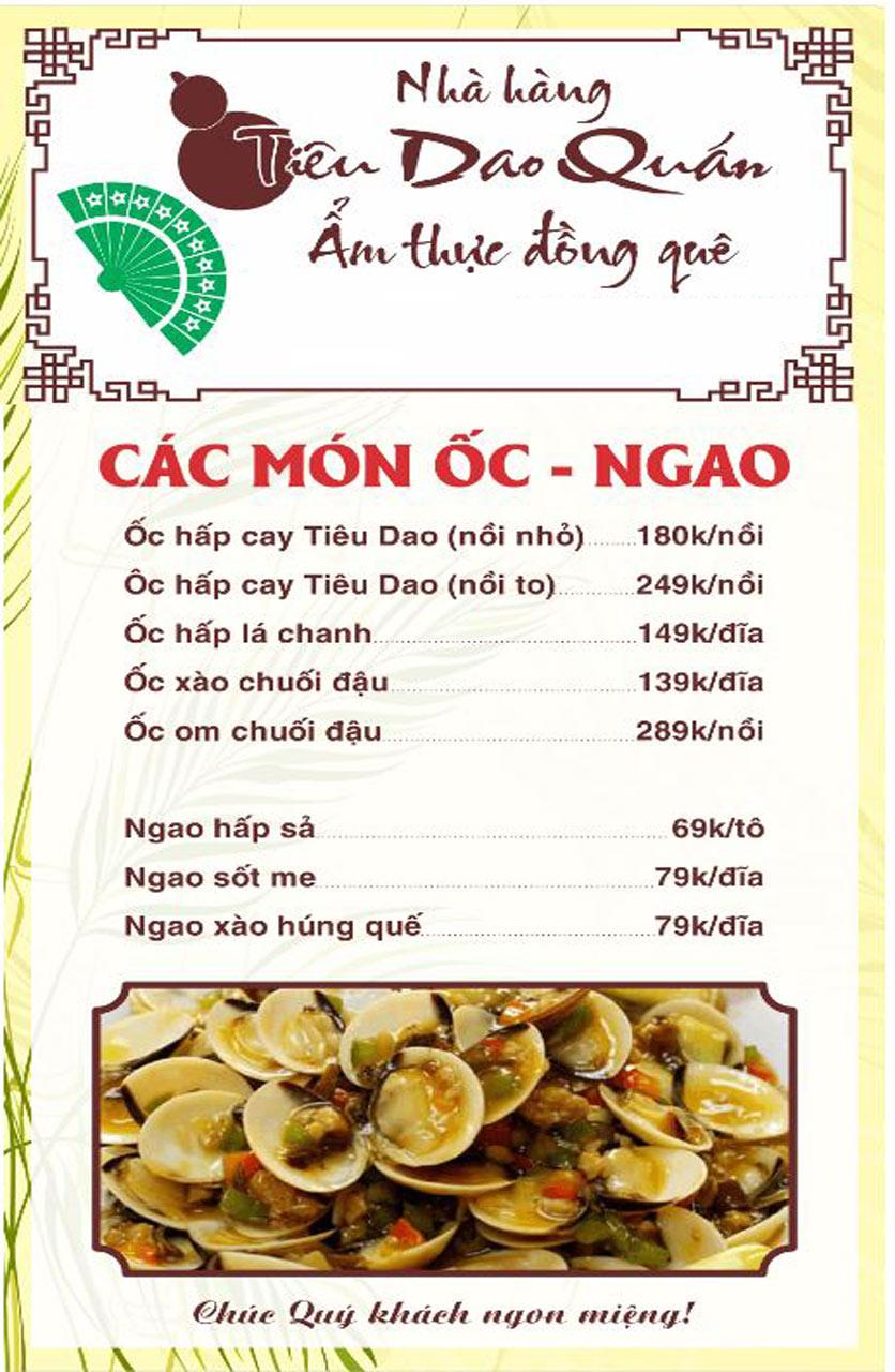 Menu Tiêu Dao Quán - Nguyễn Khuyến 5