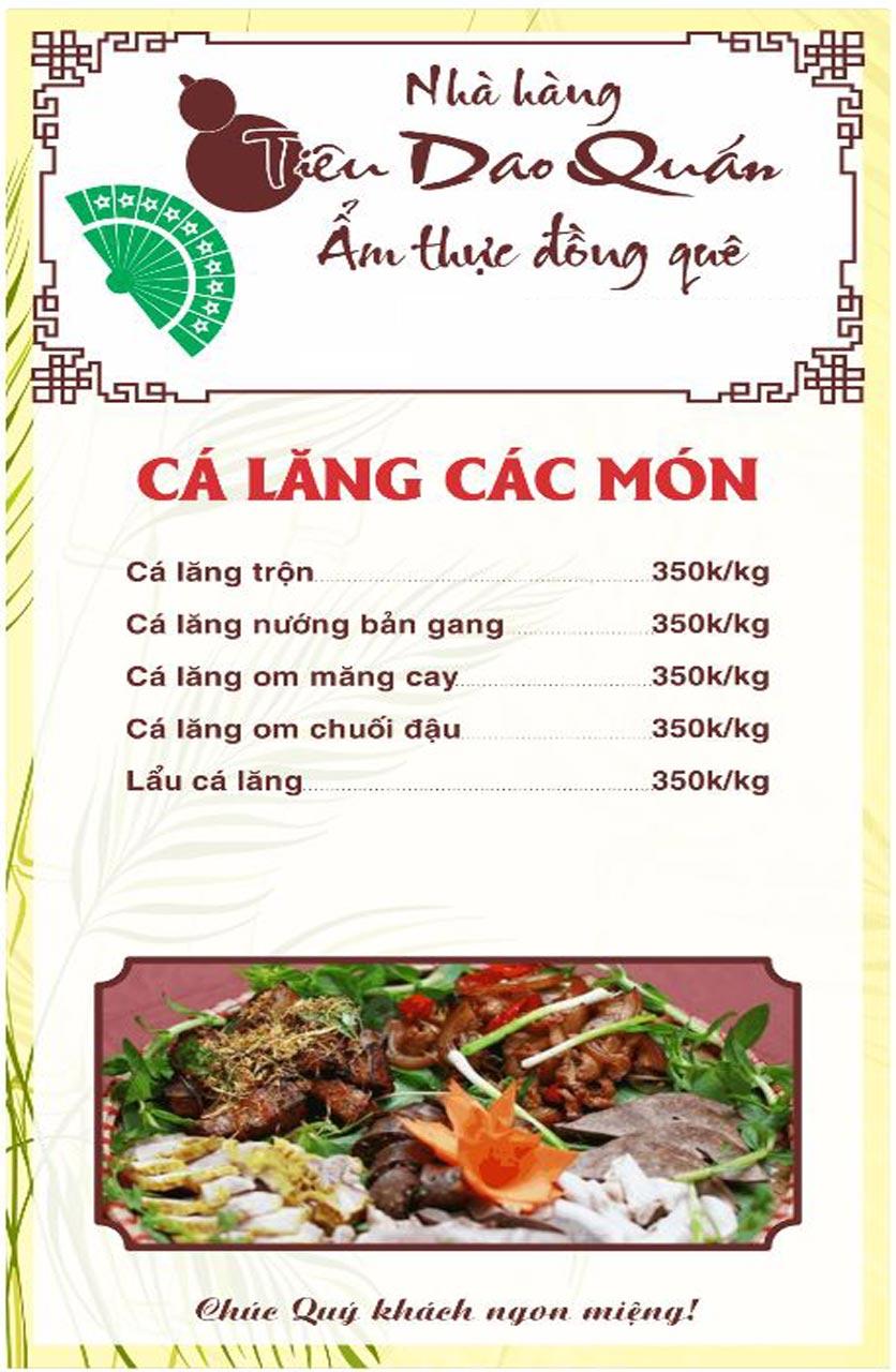 Menu Tiêu Dao Quán - Nguyễn Khuyến 7