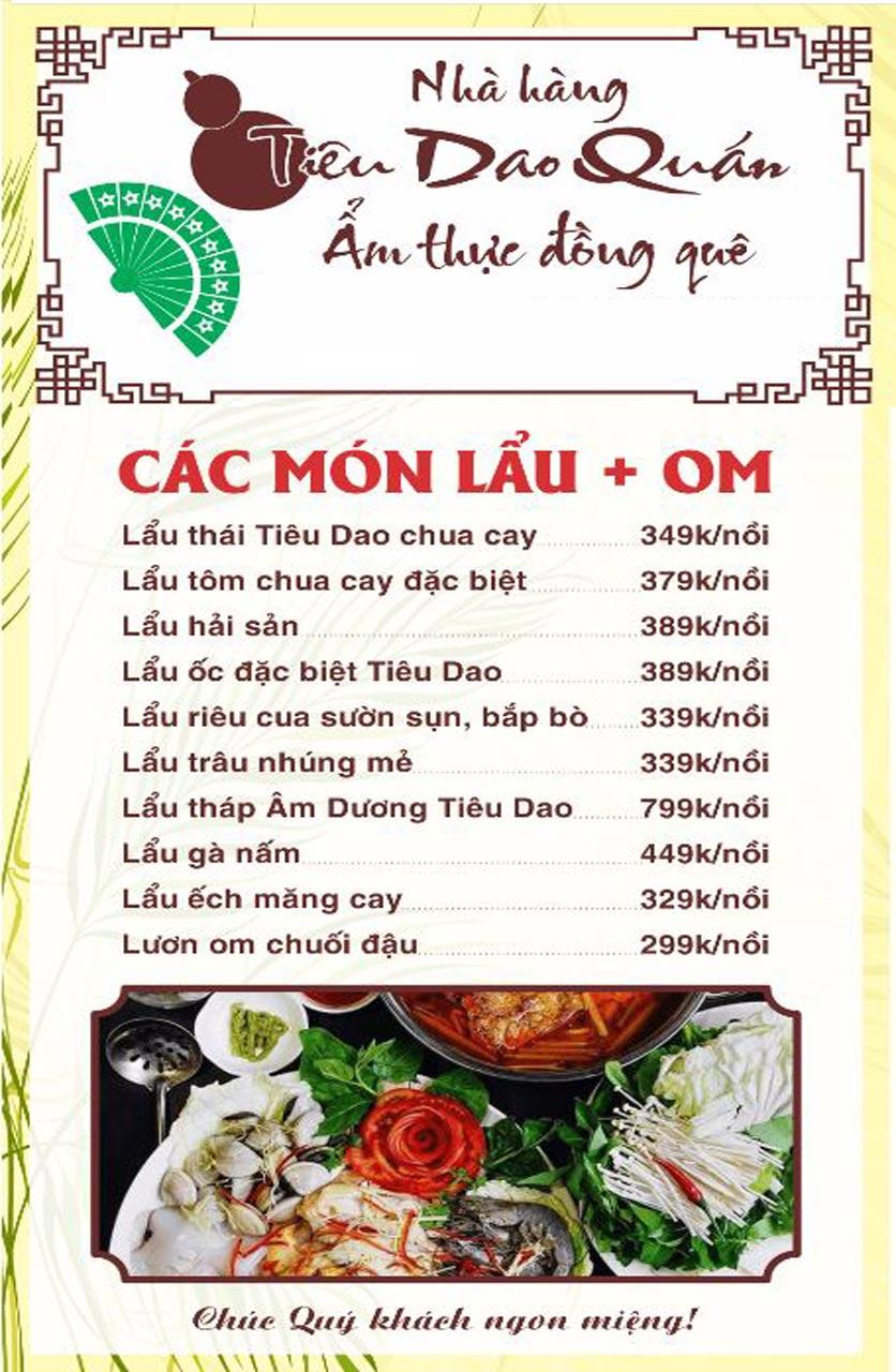 Menu Tiêu Dao Quán - Nguyễn Khuyến 8