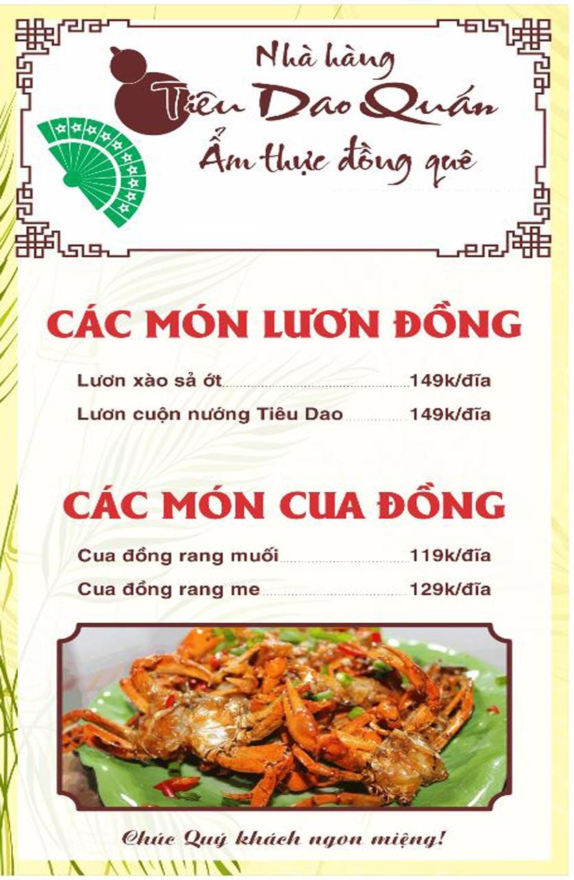 Menu Tiêu Dao Quán - Nguyễn Khuyến 9