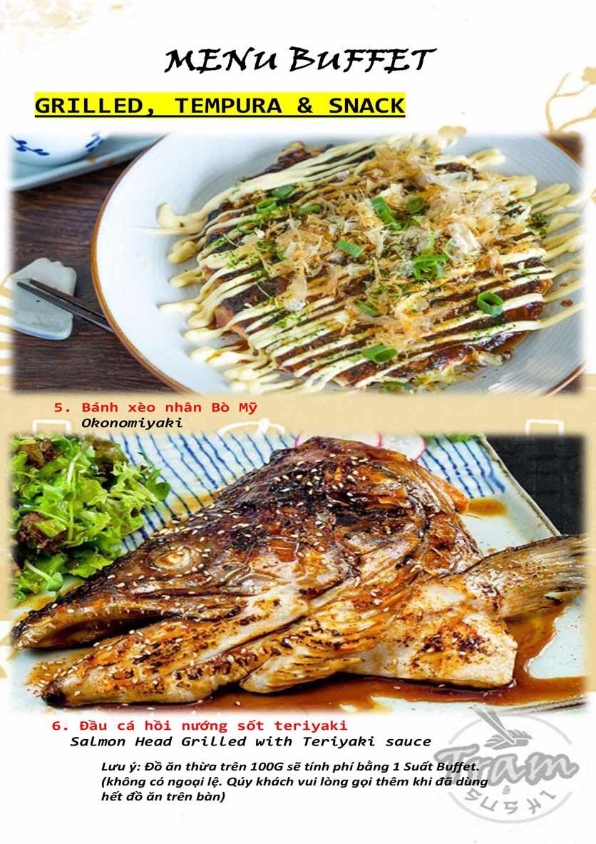 Menu Trạm Sushi - Trần Quang Diệu 2